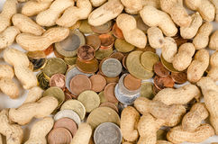 Being paid peanuts Stock Photo