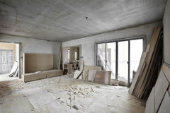 Being renovated house Stock Image