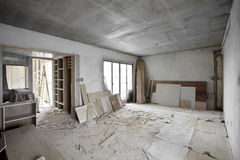 Being renovated house Royalty Free Stock Photos