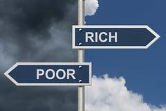 Being Rich Versus Poor Stock Photography