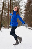 Being Silly In The Snow Stock Photography