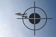 Being watched. Target on Jets Royalty Free Stock Photography