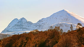 Beinn Alligin fron A832 Royalty Free Stock Photography