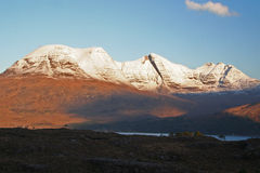 Beinn Alligin, montagnes du nord-ouest, Ecosse Image stock