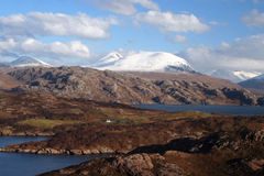 Beinn Alligin, montagnes du nord-ouest, Ecosse Photographie stock libre de droits