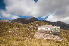Beinn Eighe National Nature Reserve sign Stock Photography