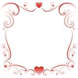 Beira 01 do amor de Swirly ilustração royalty free