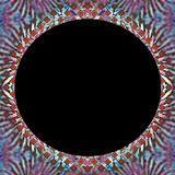 Beira abstrata com centro preto imagem de stock
