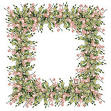 Beira abstrata, flores fotografia de stock