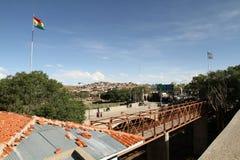 Beira Argentina-Boliviana imagem de stock