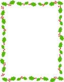 Beira/azevinho do Natal ilustração do vetor