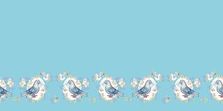 Beira azul com pomba e envelope ilustração do vetor