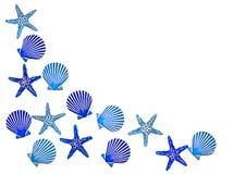 Beira azul do escudo foto de stock royalty free