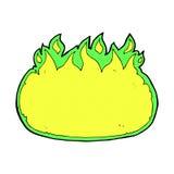beira cômica do fogo do Dia das Bruxas do verde dos desenhos animados Imagens de Stock Royalty Free