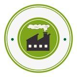 Beira circular colorida com contaminação da fábrica e do fumo ilustração royalty free