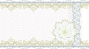 Beira clássica do guilloche para o certificado Imagem de Stock