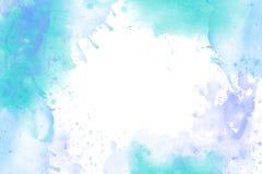Beira clara do backround da aquarela no branco fotos de stock royalty free