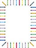 Beira colorida do pastel   Fotografia de Stock