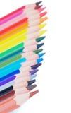 Beira colorida dos lápis Foto de Stock