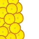 Beira com citrinas de fatias alaranjadas Imagens de Stock