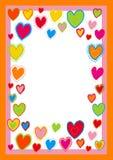 Beira com corações Ilustração Royalty Free