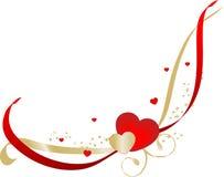 Beira com corações Fotografia de Stock Royalty Free