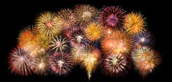 Beira com fogos-de-artifício Foto de Stock Royalty Free