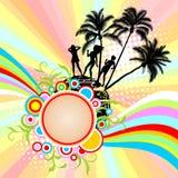 Beira com palmeiras Foto de Stock Royalty Free