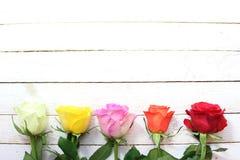 Beira com rosas foto de stock