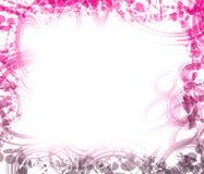 Beira cor-de-rosa e roxa. Imagem de Stock Royalty Free