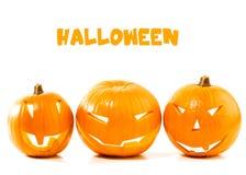 Beira da abóbora de Halloween Fotos de Stock Royalty Free
