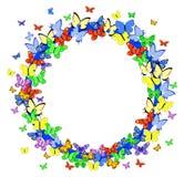 Beira da borboleta ilustração royalty free