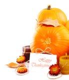 Beira da decoração do feriado de acção de graças Fotografia de Stock