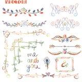 Beira da garatuja, grupo de canto da decoração ilustração royalty free