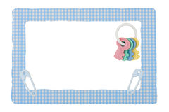 Beira da verificação do azul de bebê Foto de Stock