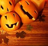 Beira das abóboras de Halloween Imagem de Stock