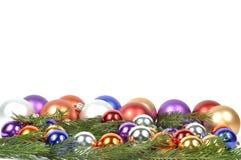 Beira das esferas do Natal Imagens de Stock Royalty Free