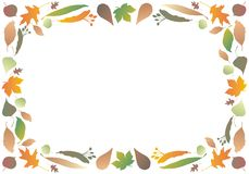 Beira das folhas de outono Imagens de Stock