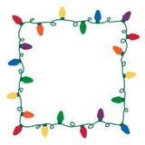 Beira das luzes de Natal Imagem de Stock Royalty Free