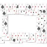 Beira de cartões de jogo Imagem de Stock