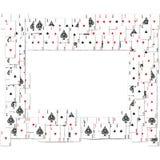 Beira de cartões de jogo Foto de Stock Royalty Free
