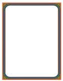 Beira de Colorfull ilustração do vetor