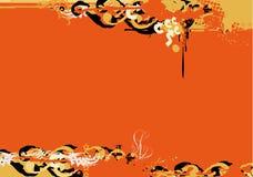Beira de Grunge. ilustração stock