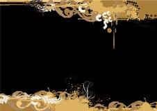 Beira de Grunge. ilustração do vetor