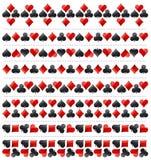 Beira de jogo do pôquer com símbolos vermelhos e pretos, illustr do vetor ilustração do vetor