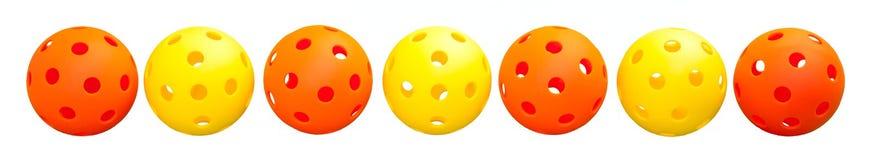 Beira de 7 Pickleball - laranja & amarelo Imagens de Stock