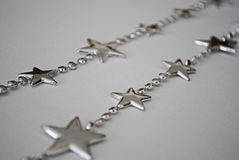 Beira de prata da estrela Fotos de Stock Royalty Free