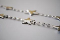 Beira de prata da estrela Fotos de Stock