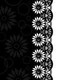 Beira decorativa black-white_2 Imagens de Stock Royalty Free