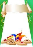 Beira decorativa de Purim Imagens de Stock Royalty Free